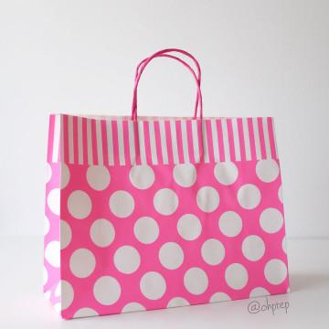 Paper Bag L Polkadot Pink image