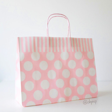 Paper Bag L Polkadot Light Pink image