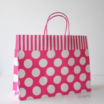 Paper Bag L Polkadot Fuchsia image