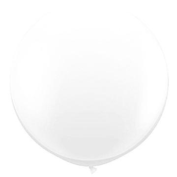 Giant Round Balloon White image