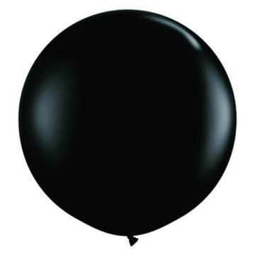 Giant Round Balloon Black image