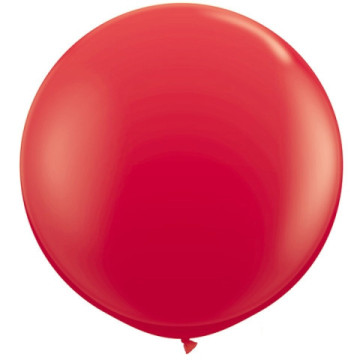 Giant Round Balloon Red image