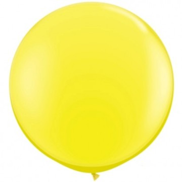 Giant Round Balloon Yellow image