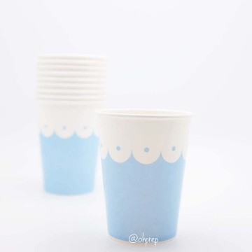 Paper Cup-Scallops Light Blue image