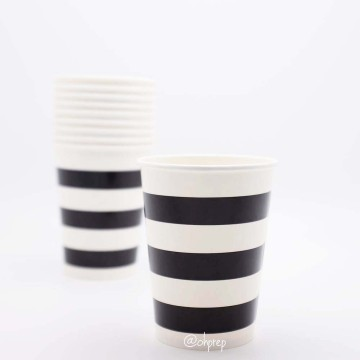Paper Cup-Stripes  Black image