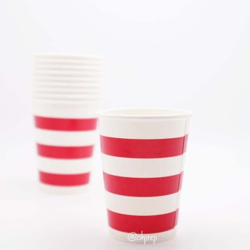 Paper Cup-Stripes  Red image