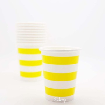Paper Cup-Stripes  Yellow image