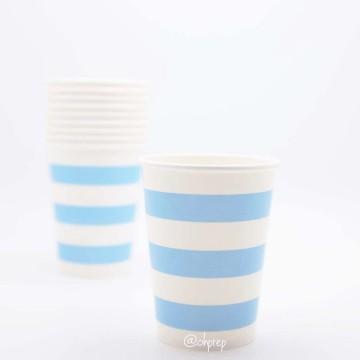 Paper Cup-Stripes  Light Blue image