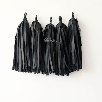 Paper Tassel Garland Black image
