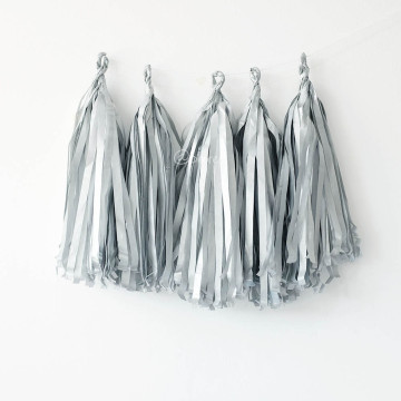 Paper Tassel Garland Silver image