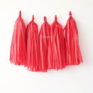 Paper Tassel Garland Red image