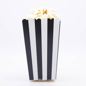 Popcorn Box Stripes Black image
