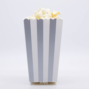 Popcorn Box Stripes Silver image
