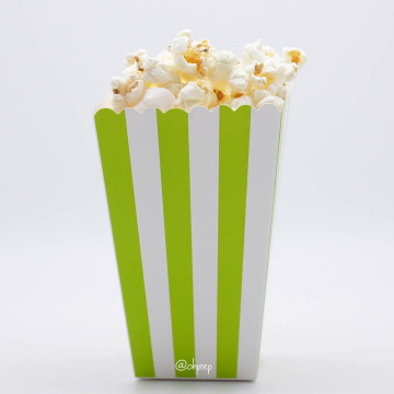 Popcorn Box Stripes Green image