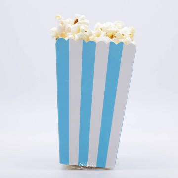 Popcorn Box Stripes Light Blue image