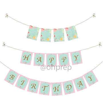 Birthday Banner Enchanted Garden image
