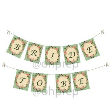 Bridal Shower Banner Vintage Garden image