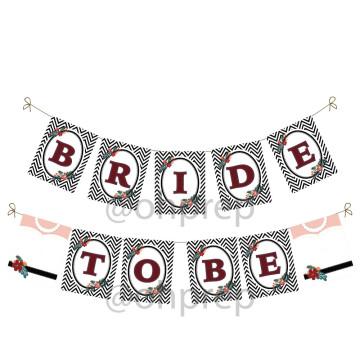 Bridal Shower Banner Classy in Black image