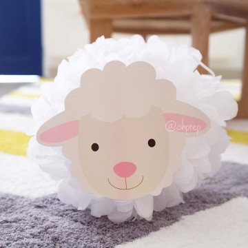 Pompom Character - Sheep image