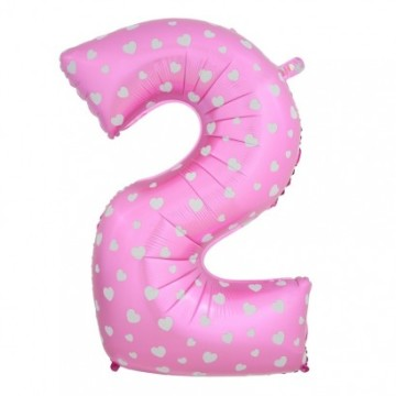 "15"" Number Balloon Pink - 2 image"
