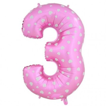 "15"" Number Balloon Pink - 3 image"