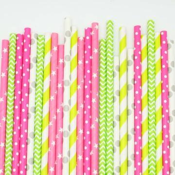 Paper Straws Merry & Bright image