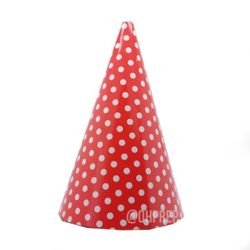 Party Hat Polkadot Red image