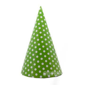 Party Hat Polkadot Green image