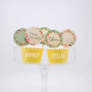 Cupcake Topper Vintage Garden image