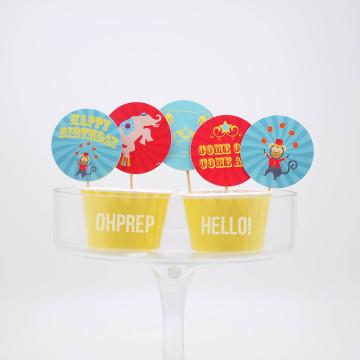 Cupcake Topper Circus image