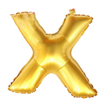 Alphabet Balloon Gold X image