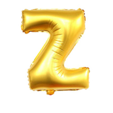Alphabet Balloon Gold Z image