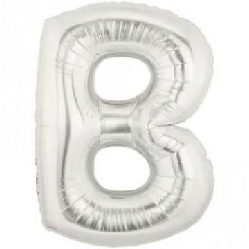 Alphabet Balloon Silver B image