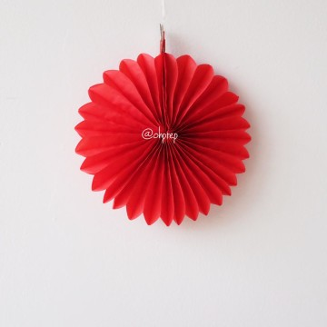 Paper Fan Red image