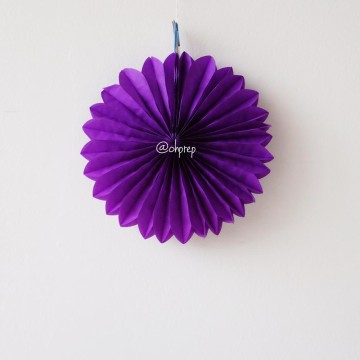 Paper Fan Dark Purple image