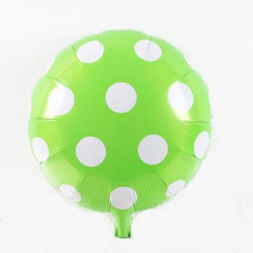 Polkadot Green Foil Balloon image
