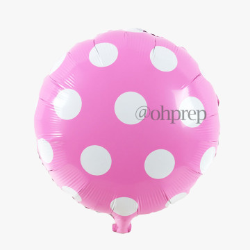 Polkadot Light Pink Foil Balloon image