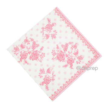 Paper Napkin - Victorian Pink image
