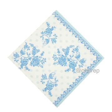 Paper Napkin - Victorian Light Blue image