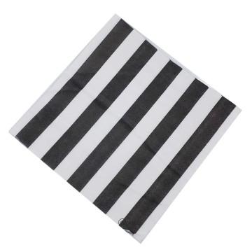 Paper Napkin - Black Stripes image