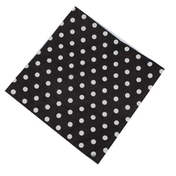 Paper Napkin Polkadot Black image