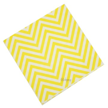 Paper Napkin Chevron Yellow image