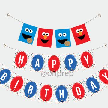 Birthday Banner Sesame Street image