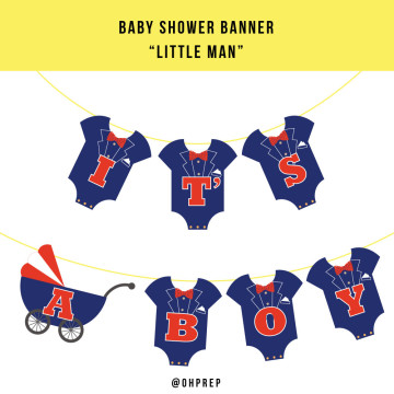 Baby Shower Banner - Little Man image