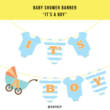 Baby Shower Banner - It's A Boy image