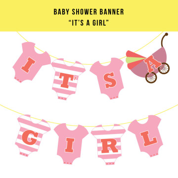 Baby Shower Banner - It's A Girl image