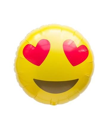 Emoji Foil Balloon - Love image