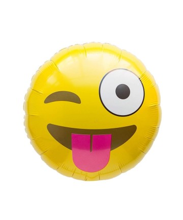 Emoji Foil Balloon - Naughty image