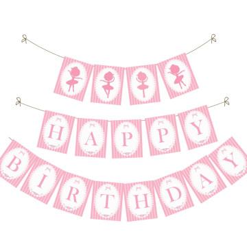 Birthday Banner Ballerina image