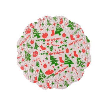 """Christmas Doilies 7.5"""" Merry Christmas image"""
